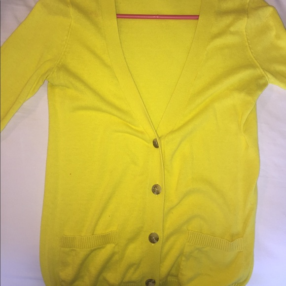 50% off Mossimo Supply Co Sweaters - Yellow button up sweater from ...